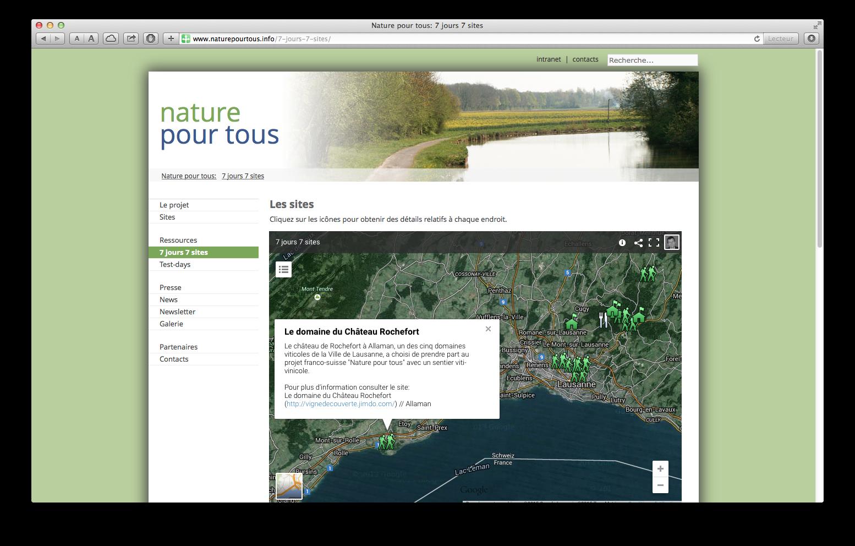 Nature pour tous - carte