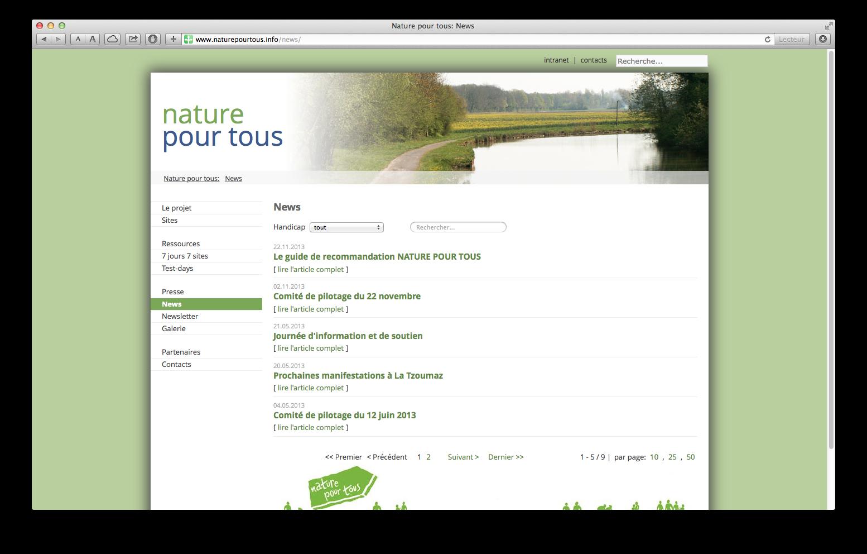 Nature pour tous - news