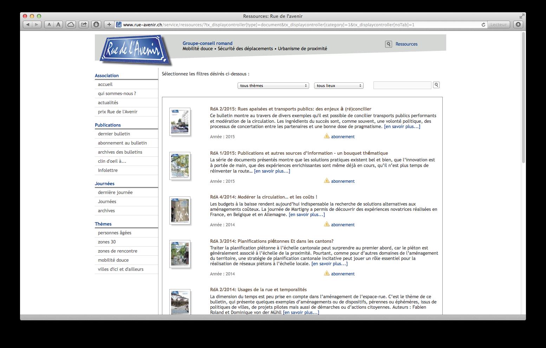 Archives des bulletins de Rue de l'Avenir