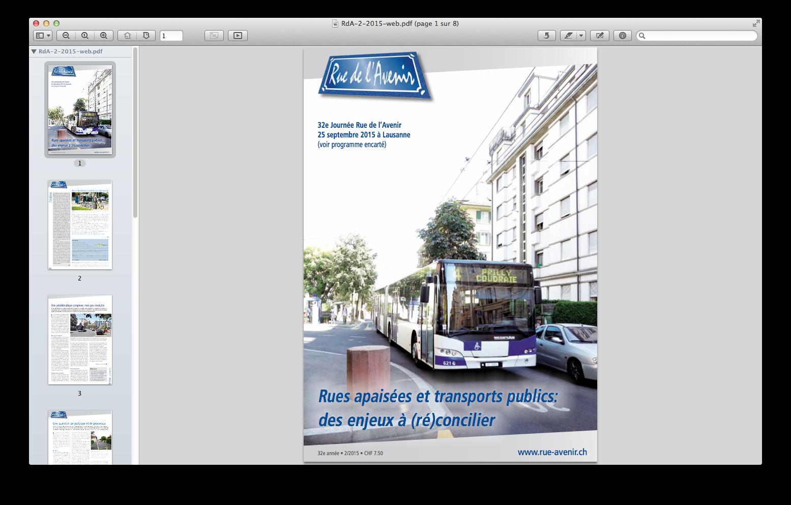 Bulletin Rue de l'Avenir - couverture