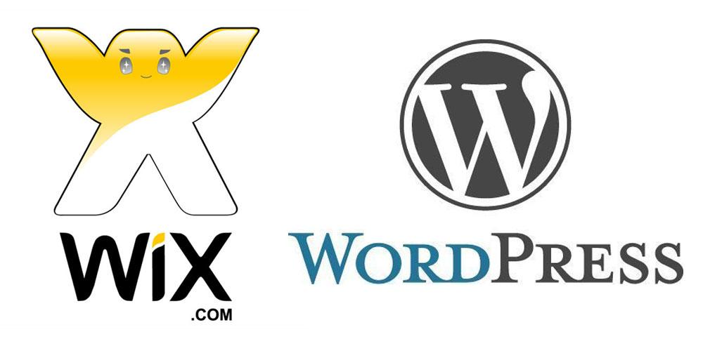 comparaison entre wix et wordpress