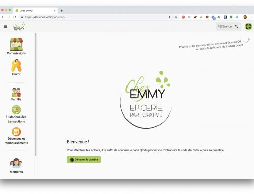 Chez-emmy application de gestion d'épicerie participative