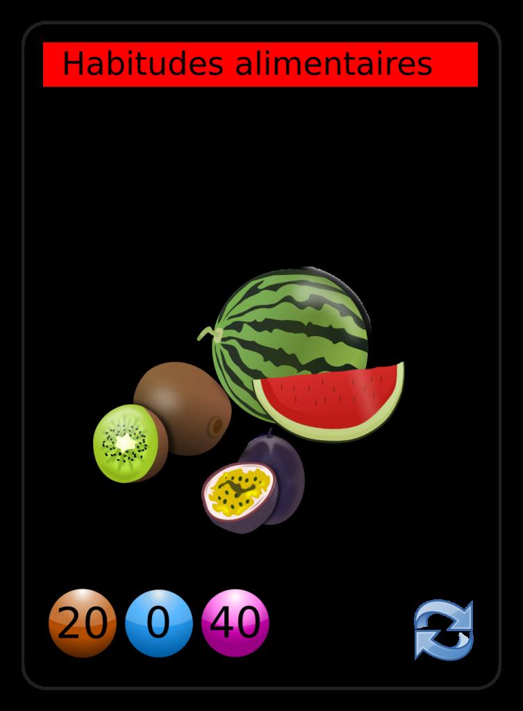 image vectorielle libre de droit alimentation-frugivore-bio