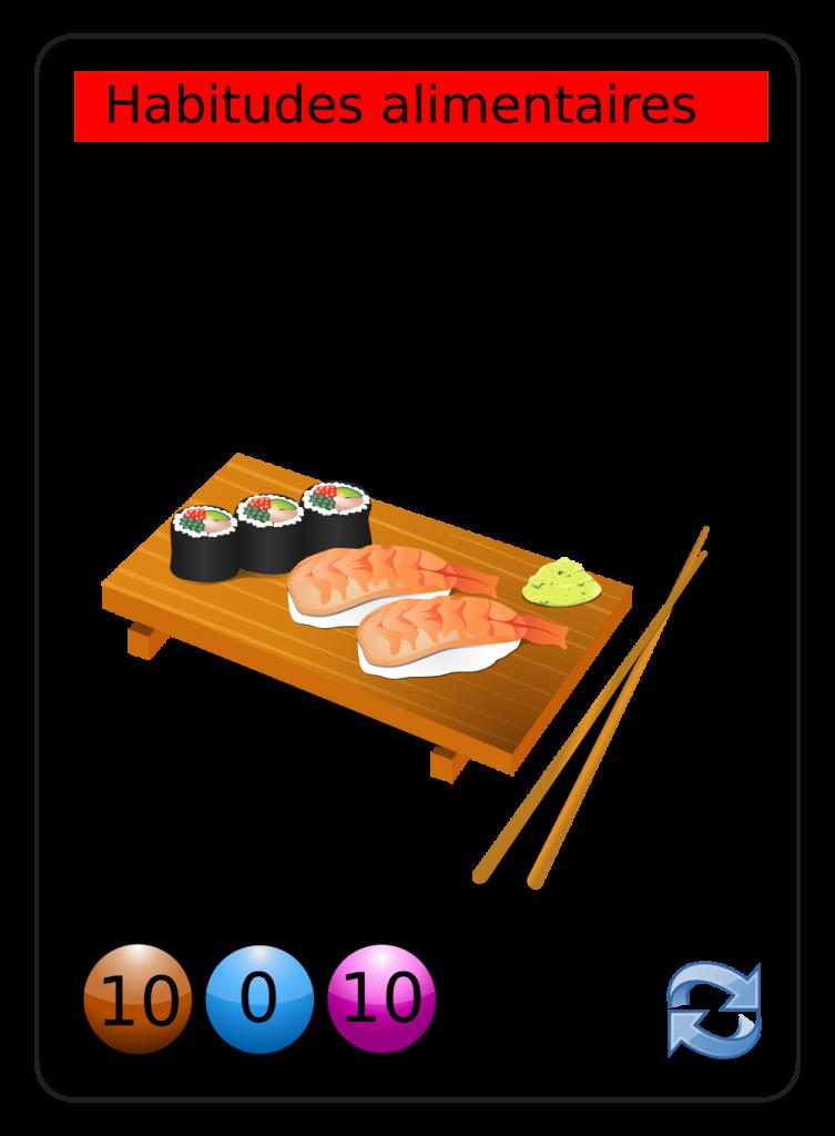 image vectorielle libre de droit alimentation-sushi