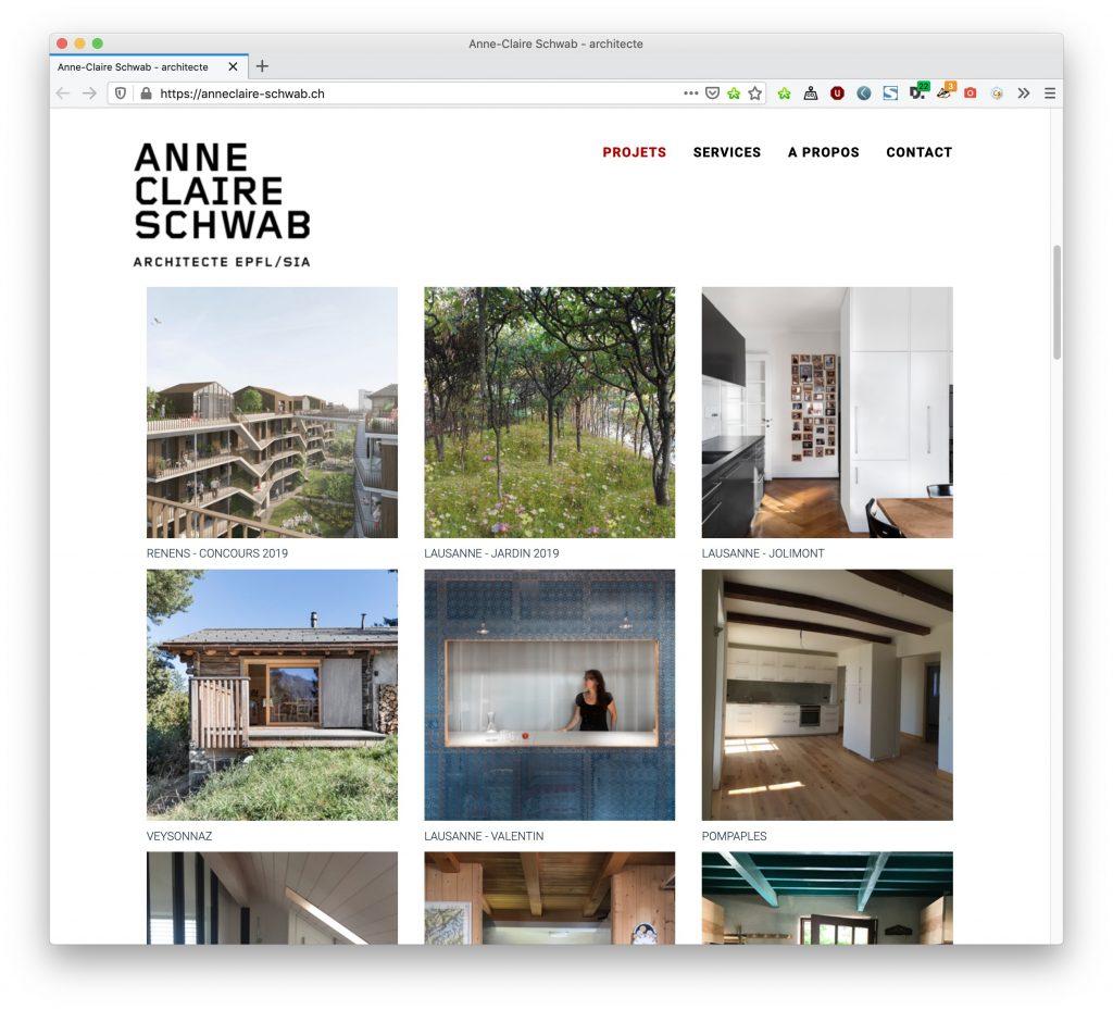 site web vitrine a faible empreinte ecologique pour architecte